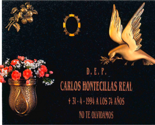 Lápidas con adornos ref. 309