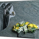 Lápida con escultura ref. 137