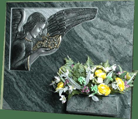 Lapida con escultura ref. 142