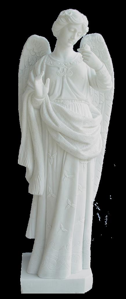 Escultura estatua del Ángel con Paloma