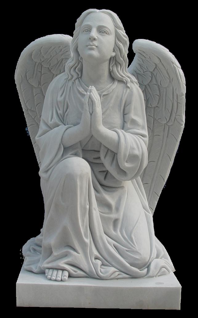 Escultura estatua del Ángel Orando