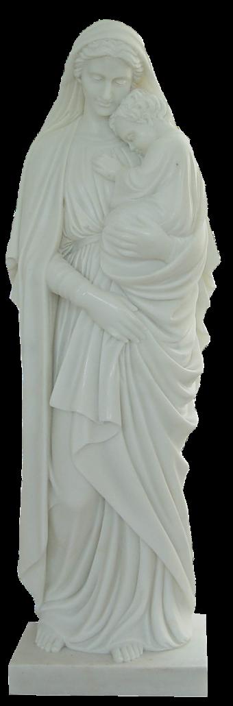 Escultura estatua de la Virgen María con el Niño Jesús