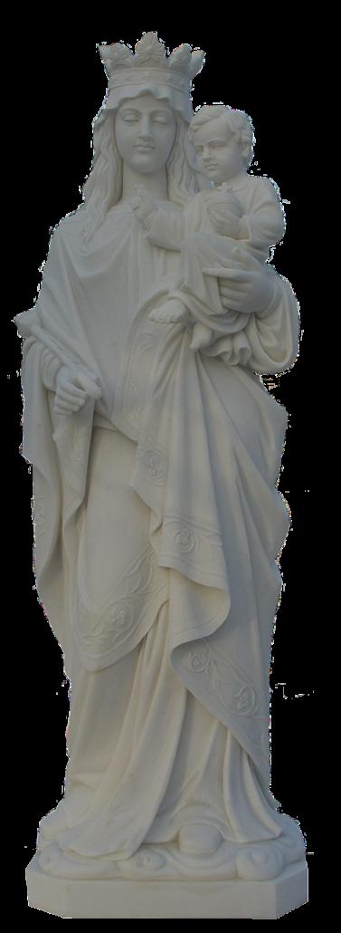Escultura estatua de la Virgen con Niño Jesús