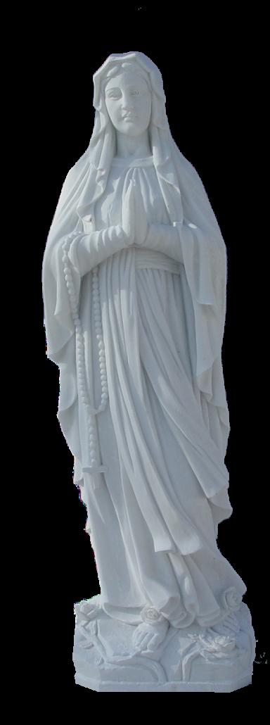 Escultura estatua de la Virgen del Rosario