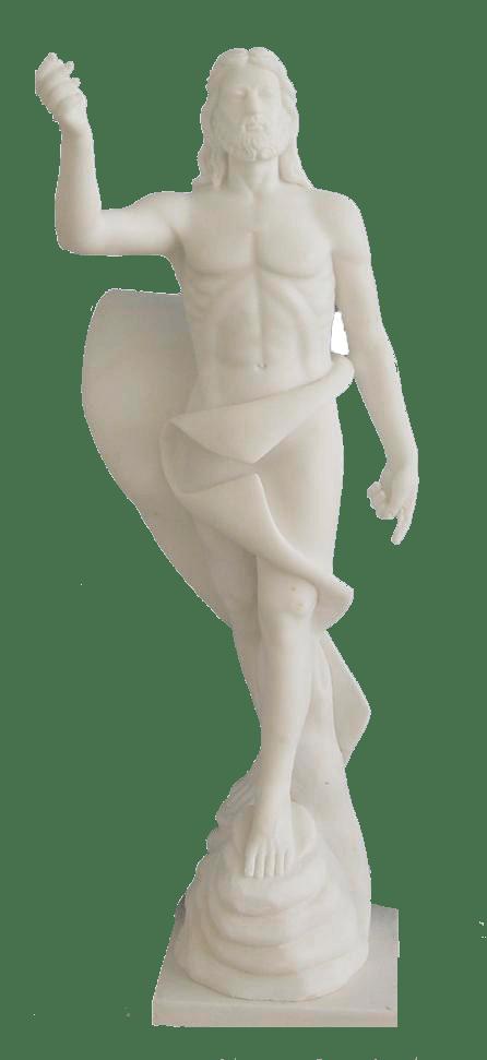 Escultura estatua del Cristo Resucitado