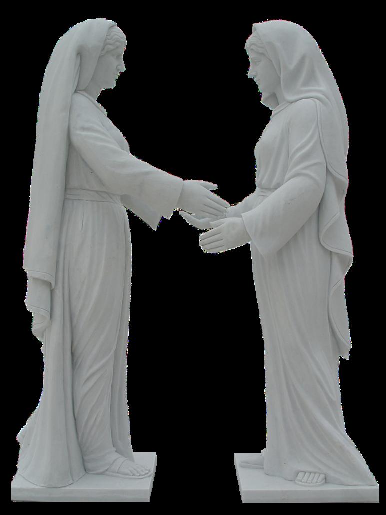 Esculturas estatuas de la Virgen María y Magdalena