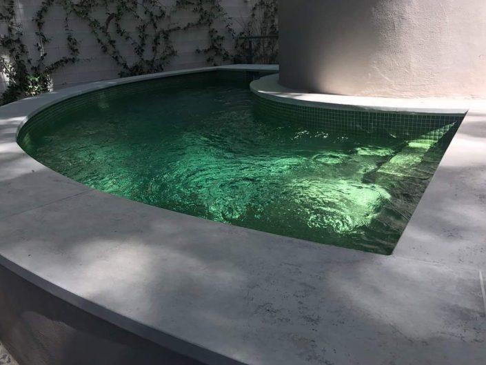 piscina Bateig azul
