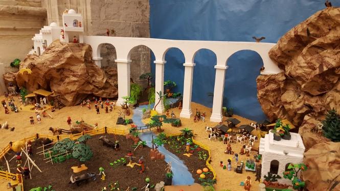 Fotografía del Belén de Playmobil del Resucitado de Cuenca
